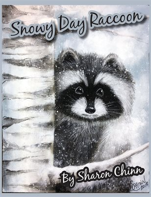 Snowy Day Raccoon Painting Pattern by Sharon Chinn