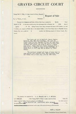 1935 COMMISSIONERS REPORT OF SALES, H.C. NEALE, ET AL.
