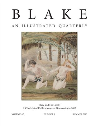 Blake/An Illustrated Quarterly vol. 47, no. 1 (summer 2013)