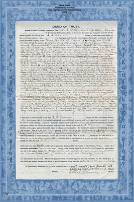 No. 18, 1918 Deed of Trust, A.W. Blevans & wife to Dr. A.B. Hanna & Hattie M. Hanna. Hardin County, Tennessee