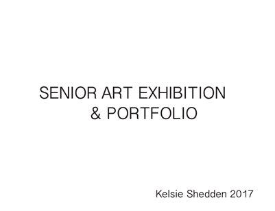 Kelsie Shedden, Senior Exhibition/Portfolio