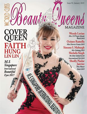 World Class Beauty Queens Magazine Issue 92 with Hung Lin Lin