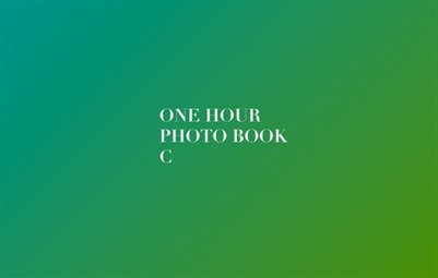 One Hour Photo Book C