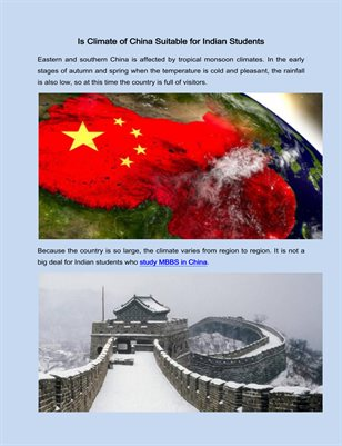Is Climate of China Suitable for Indian Students