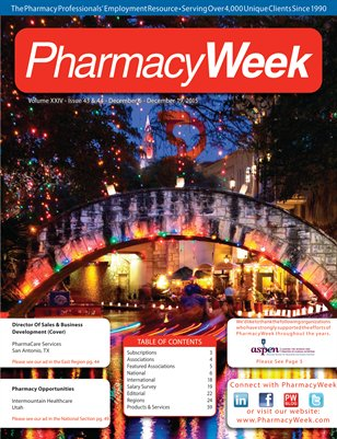 Pharmacy Week, Volume XXIV - Issue 43 & 44 - December 6 - December 19, 2015