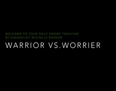 Warrior over Worrier booklet