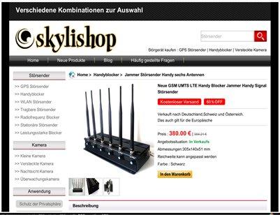 Handyblocker GSM Jammer