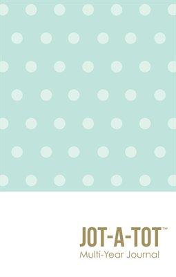 Jot-A-Tot Multi Year Journal in Mint Dots