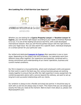 Cyprus Contract Law