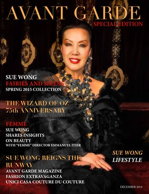 AVANT GARDE Magazine 2014 Special Edition Tribute Issue Sue Wong