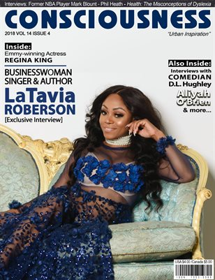 LaTavia Roberson featured on cover of Consciousness Magazine