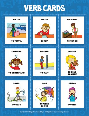 Flash Cards - Spanish verbs  (#1.4)