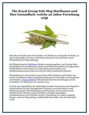 The Koyal Group Info Mag Marihuana und Ihre Gesundheit: welche 20 Jahre Forschung zeigt