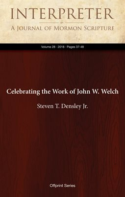 Celebrating the Work of John W. Welch