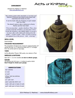 Shrubbery Kerchief Scarf OUTSIDE PAGES