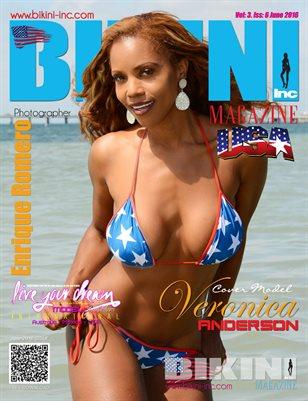 BIKINI INC USA MAGAZINE - Cover Model Veronica Anderson - June 2016