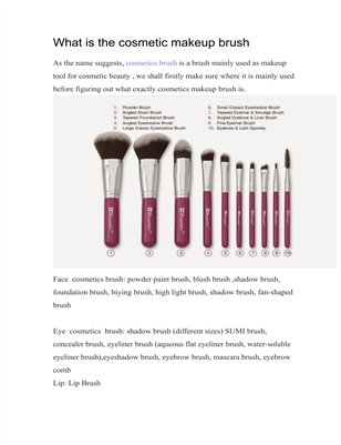 What is the makeup cosmetics brush