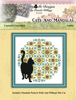 Cats And Mandalas August Cross Stitch Pattern