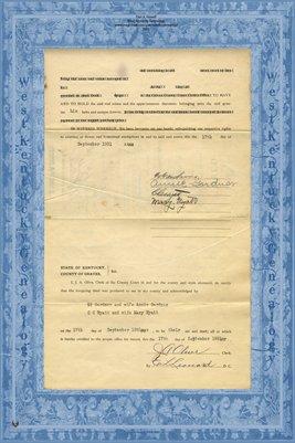 (PAGE 3) 1931 Deed, C.C. Wyatt & Ed Gardner to Charles Wyatt, Jr., Graves County, Kentucky