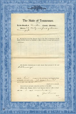 No.792 1902, In the Supreme Court, Hamilton County, Tennessee, S.H. Newby vs. Jas. A. Jones