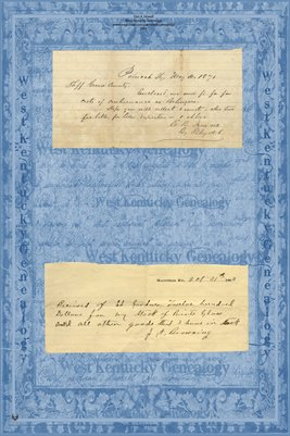 1870 BOLINGER, Graves County & 1903 Ed Gardner to J.A. Browning, Graves County, KY