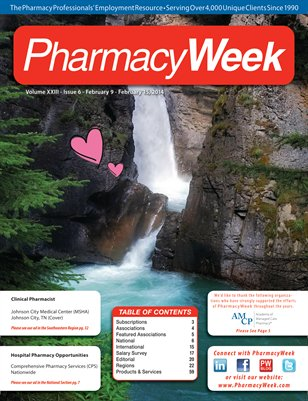 Pharmacy Week, Volume XXIII - Issue 6 - February 9 - February 15, 2014
