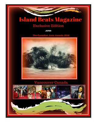 An Island Beats Magazine Exclusive Edition At The Canadian Juno Awards 2018
