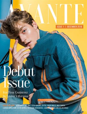 Avante Debut Issue: Froy Gutierrez Cover