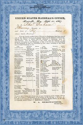 1867 AMOS SMITH BANKRUPT NOTIFICATION