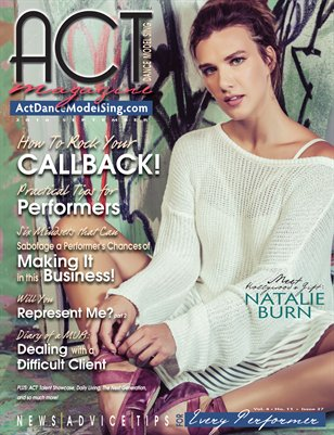 ACT Dance Model Sing Magazine Issue 27