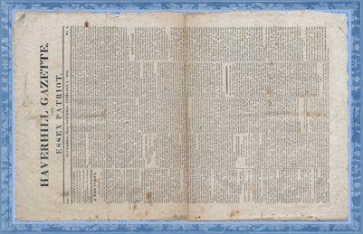 Feb. 1, 1823 Haverhill Gazette, Haverhill, Mass.
