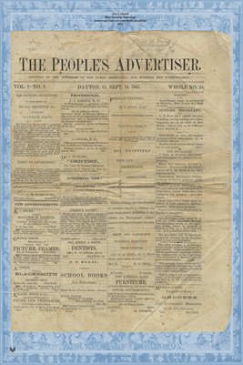 (PAGES 1-2) The People's Advertiser, Sept. 14, 1867, Dayton, Ohio