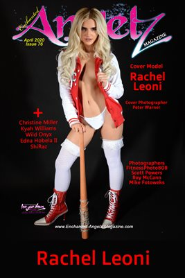 ENCHANTED ANGELZ MAGAZINE COVER POSTER - Cover Model Rachel Leoni - April 2020