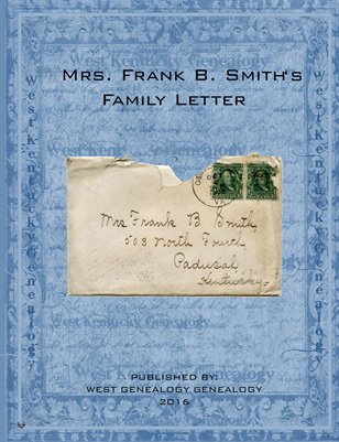 Mrs. Frank B. Smith's Family Letter, Paducah, Kentucky