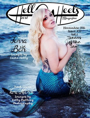 "Hell on Heels Magazine November 2016 Issue #37 Vol.1 ""Sirens of the Sea"""
