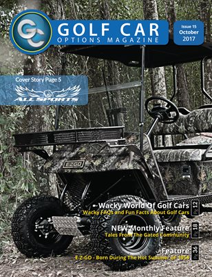 Golf Car Options Magazine - October 2017