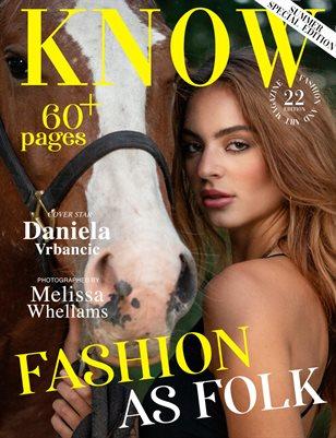 KNOW Magazine FASHION AS FOLK Spécial Édition Jun 2021_Daniela