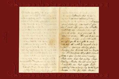 1862 Union Soldier Clinton Bates 52nd Mass Vols Letter from Cousin, H.W. Stetson