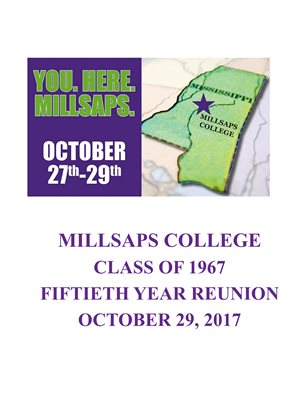Millsaps Class of 1967 50th Reunion Book