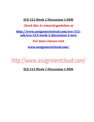 ECE 312 Entire Course NEW