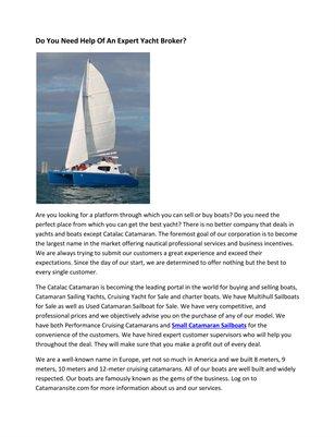 Do You Need Help Of An Expert Yacht Broker?