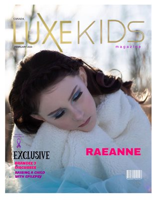 FEBRUARY LUXE KID COVER MODEL ICE PRINCESS RAEANNE