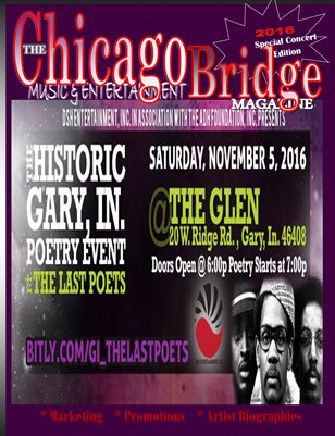The Chicago Bridge Magazine Presents  DSH ETERTAINMENT & CEO MR. DINO S..HALL