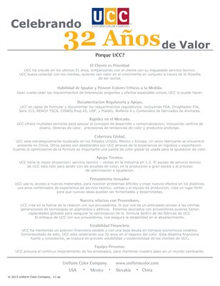 UCC 32 Years of Value - Spanish