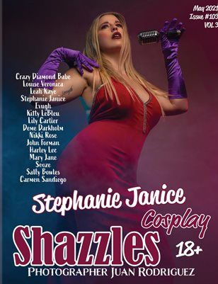 Shazzles Cosplay Issue #103 VOL 3 Cover Model Stephanie Janice