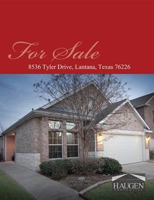 Haugen Properties - 8536 Tyler, Lantana, Texas, 76224