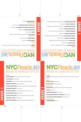 NYC Reads 365 Reading List Table Tents - Grade 1