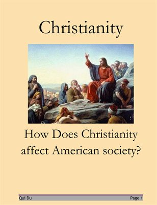 The Effects of Christianity on American Society