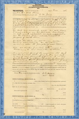1896 Mortgage, Chas. B. & Will Stevens - A.M. Jones, Graves County, Kentucky