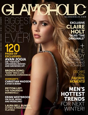 Glamoholic - Issue #25 - Claire Holt Cover